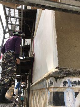 蔵修繕工事 漆喰塗り