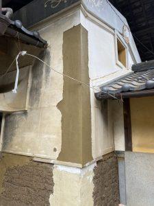 山梨県 蔵 漆喰修繕工事